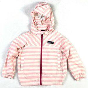 Patagonia Girls Toddler Striped Windbreaker Jacket